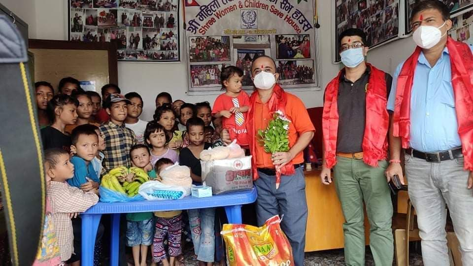 Dr. Aryal celebrated his birthday by doing philanthropic work