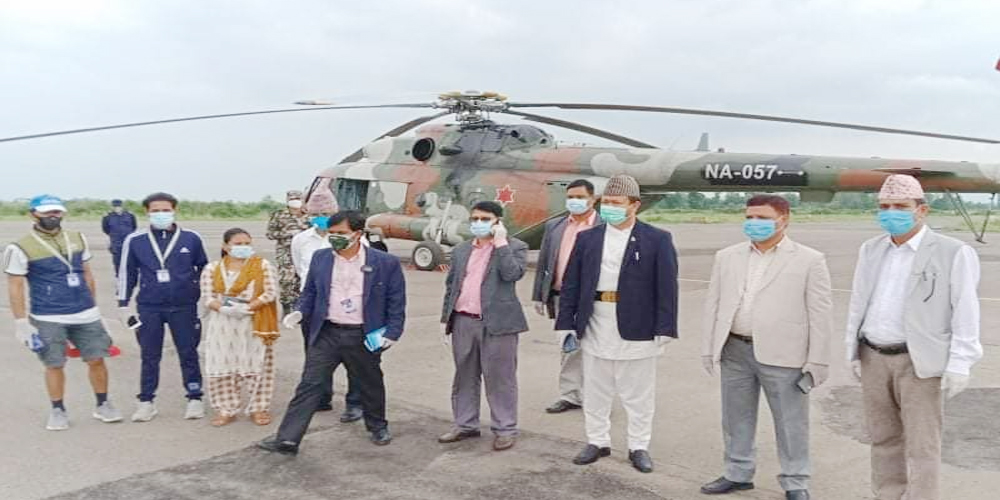 A team including Chief Minister Bhatt reached Achham and Bajura carrying relief